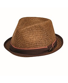 San Diego Hat Men's Porkpie with Stripe Grosgrain