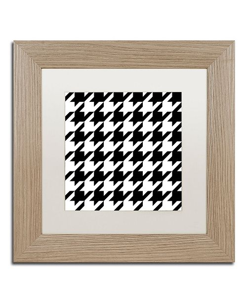 """Trademark Global Color Bakery 'Xmas Houndstooth 6' Matted Framed Art - 11"""" x 11"""""""