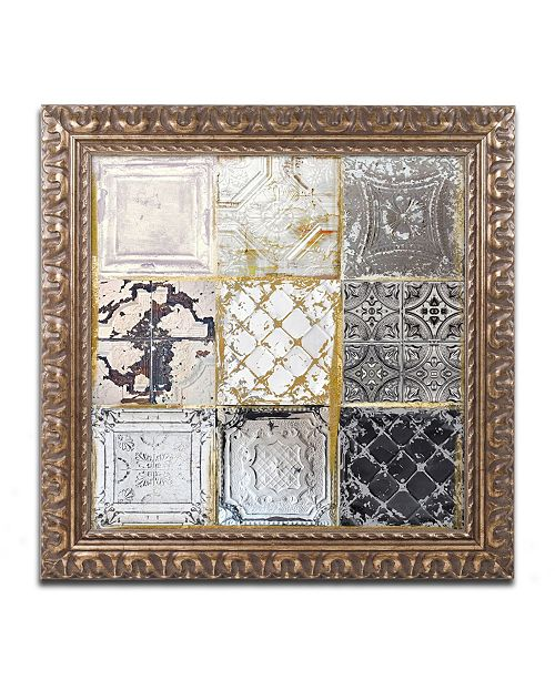 "Trademark Global Color Bakery 'Tintypes' Ornate Framed Art - 16"" x 16"""