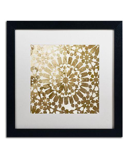 "Trademark Global Color Bakery 'Moroccan Gold I' Matted Framed Art - 16"" x 16"""