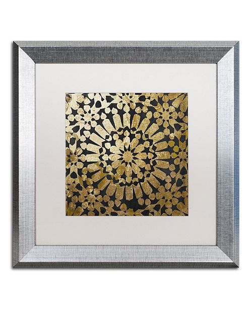 "Trademark Global Color Bakery 'Moroccan Gold III' Matted Framed Art - 16"" x 16"""