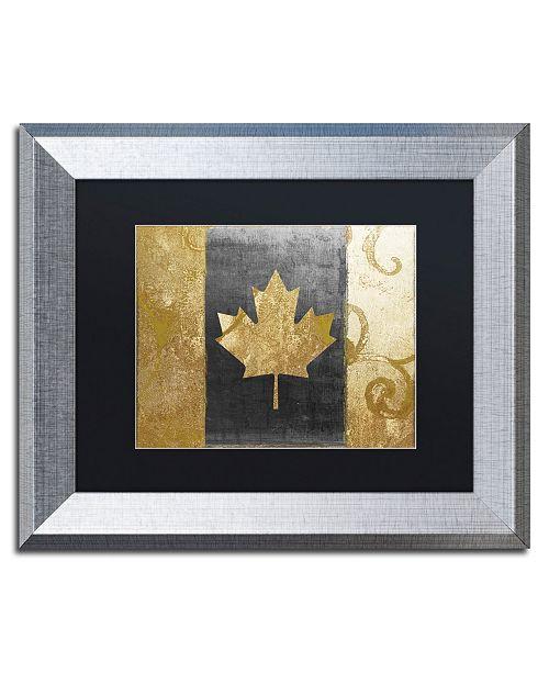 "Trademark Global Color Bakery 'Fashion Flag I' Matted Framed Art - 11"" x 14"""