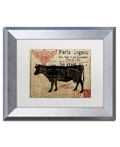 "Trademark Global Color Bakery 'Paris Farms I' Matted Framed Art - 11"" x 14"""