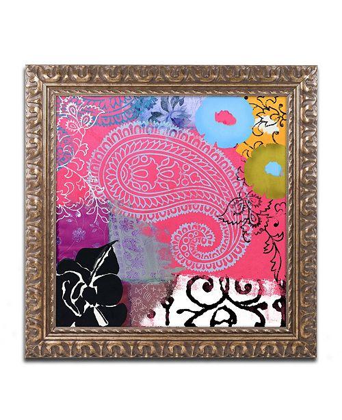 "Trademark Global Color Bakery 'Bali III' Ornate Framed Art - 16"" x 16"""