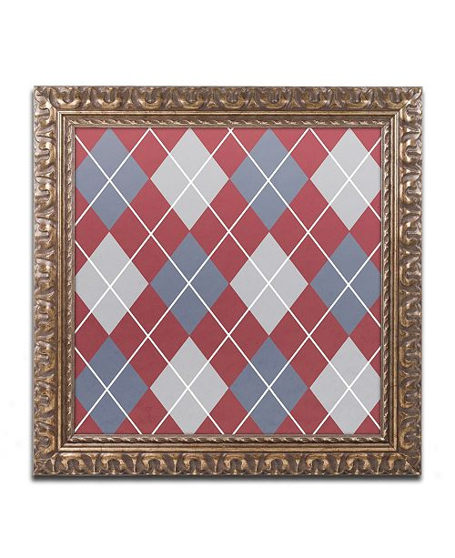 "Trademark Global Color Bakery 'Set 1 A' Ornate Framed Art - 11"" x 11"""