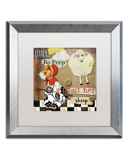 "Trademark Global Color Bakery 'Childhood II' Matted Framed Art - 16"" x 16"""