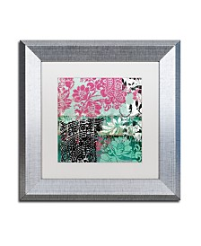 """Color Bakery 'Serendipity II' Matted Framed Art - 11"""" x 11"""""""