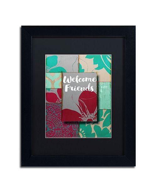 "Trademark Global Color Bakery 'Elegant Welcome Flag' Matted Framed Art - 11"" x 14"""