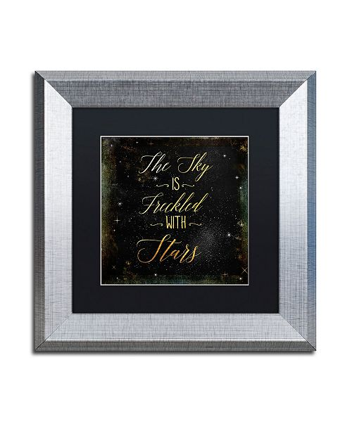 """Trademark Global Color Bakery 'Moon and Back III' Matted Framed Art - 11"""" x 11"""""""