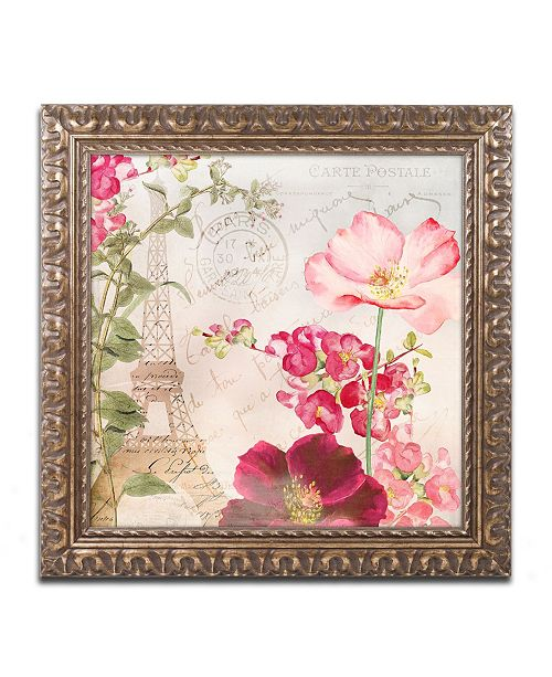 "Trademark Global Color Bakery 'Always Paris I' Ornate Framed Art - 11"" x 11"""
