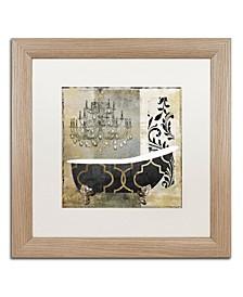 "Color Bakery 'Paris Bath II' Matted Framed Art - 16"" x 16"""