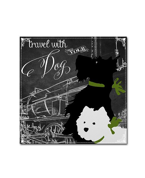 """Trademark Global Color Bakery 'Travel With Your Dog' Canvas Art - 14"""" x 14"""""""