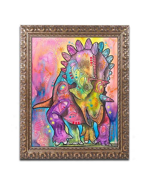 "Trademark Global Dean Russo 'Triceratops' Ornate Framed Art - 11"" x 14"""