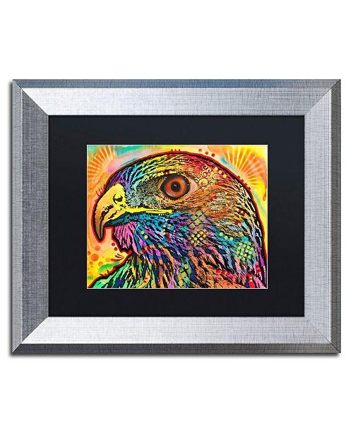 """Trademark Global Dean Russo 'Hawk' Matted Framed Art - 11"""" x 14"""""""