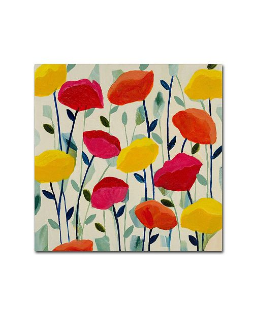 "Trademark Global Carrie Schmitt 'Cheerful Poppies' Canvas Art - 24"" x 24"""