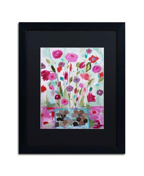 """Trademark Global Carrie Schmitt 'Solstice Booms' Matted Framed Art - 16"""" x 20"""""""