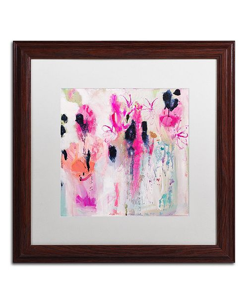 "Trademark Global Carrie Schmitt 'Unintentional Beauty' Matted Framed Art - 16"" x 16"""