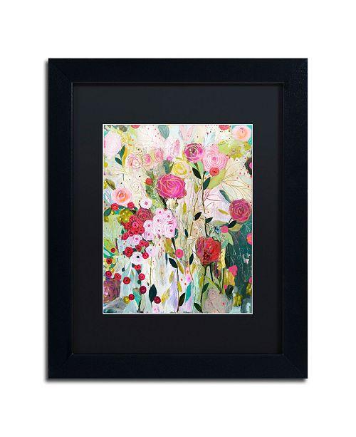 """Trademark Global Carrie Schmitt 'Wild Rose' Matted Framed Art - 11"""" x 14"""""""