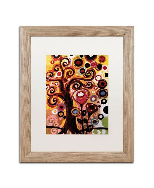"Trademark Global Natasha Wescoat '059' Matted Framed Art - 16"" x 20"""