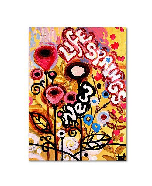 "Trademark Global Natasha Wescoat '104' Canvas Art - 14"" x 19"""