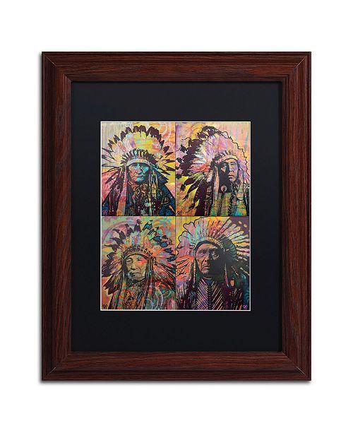 "Trademark Global Dean Russo 'Chiefs Quadrant' Matted Framed Art - 11"" x 14"""