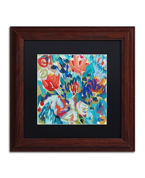 "Trademark Global Carrie Schmitt 'Asana' Matted Framed Art - 11"" x 11"""
