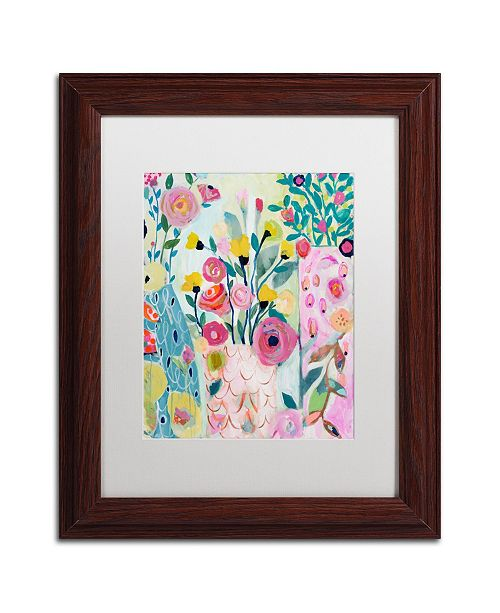 "Trademark Global Carrie Schmitt 'Vase of Flowers' Matted Framed Art - 11"" x 14"""