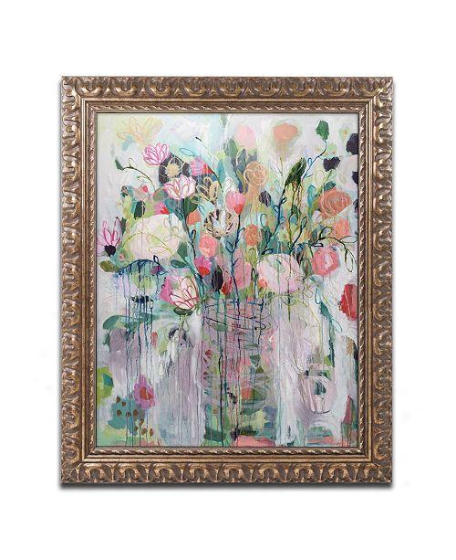 """Trademark Global Carrie Schmitt 'Spring Showers' Ornate Framed Art - 11"""" x 14"""""""