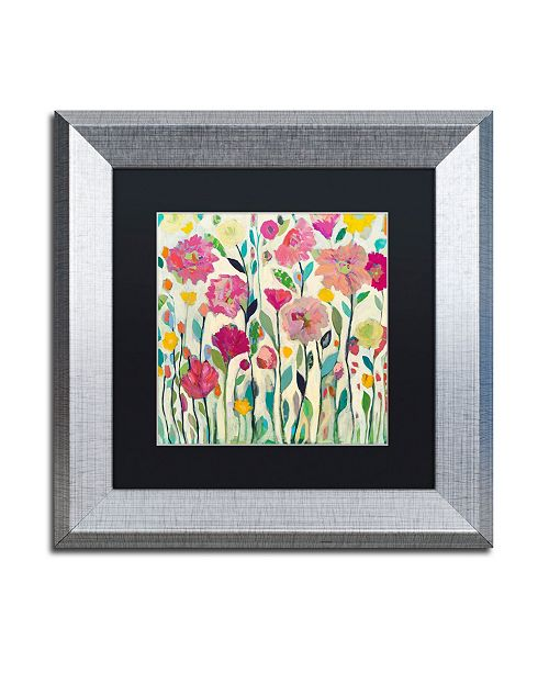 "Trademark Global Carrie Schmitt 'She Lived in Full Bloom' Matted Framed Art - 11"" x 11"""