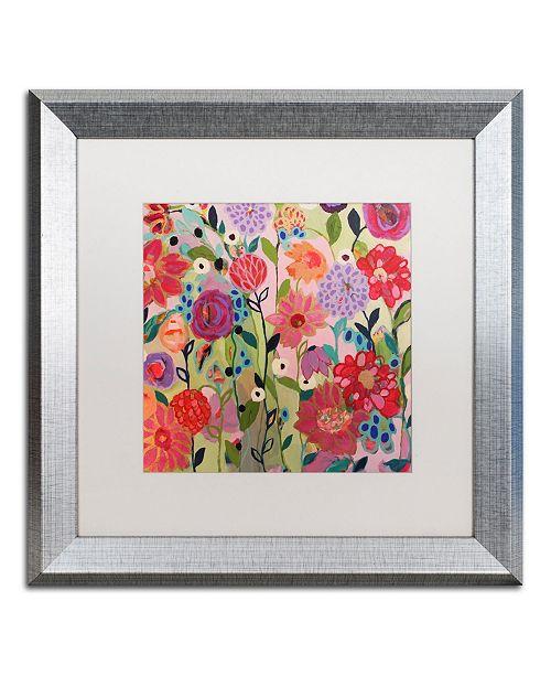 """Trademark Global Carrie Schmitt 'Feeling Groovy' Matted Framed Art - 16"""" x 16"""""""