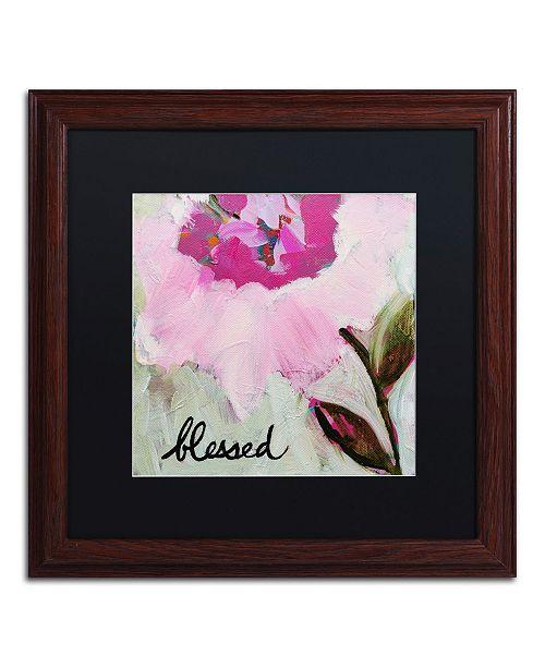 """Trademark Global Carrie Schmitt 'Blessed' Matted Framed Art - 16"""" x 16"""""""