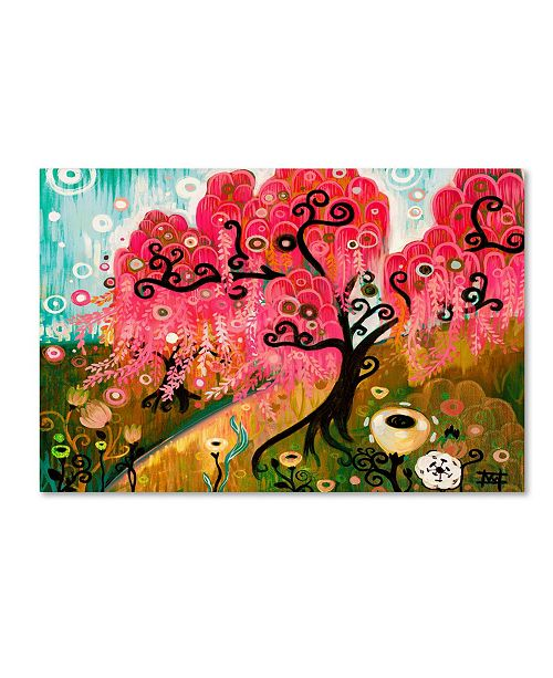 "Trademark Global Natasha Wescoat 'Cherry Blossom Willow' Canvas Art - 30"" x 47"""