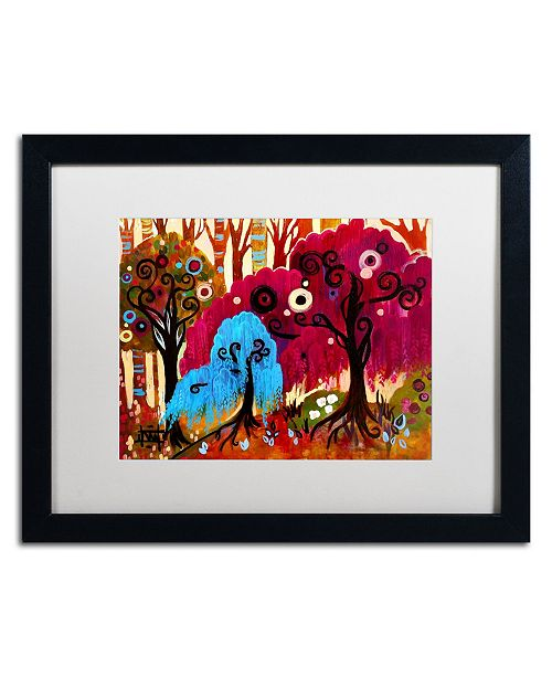 "Trademark Global Natasha Wescoat 'Deep Forest' Matted Framed Art - 16"" x 20"""
