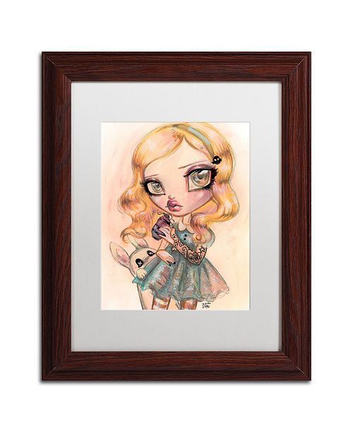 "Trademark Global Natasha Wescoat 'Drink Me' Matted Framed Art - 11"" x 14"""