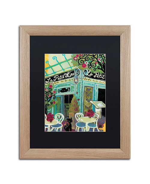 "Trademark Global Natasha Wescoat 'Le Petit Zinc' Matted Framed Art - 16"" x 20"""