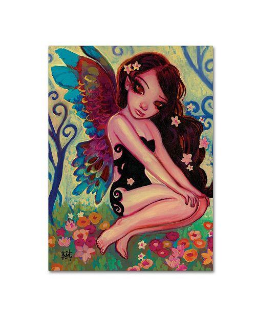 "Trademark Global Natasha Wescoat 'Rainbow Angel' Canvas Art - 14"" x 19"""