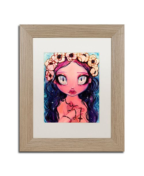 "Trademark Global Natasha Wescoat 'Rosary' Matted Framed Art - 11"" x 14"""
