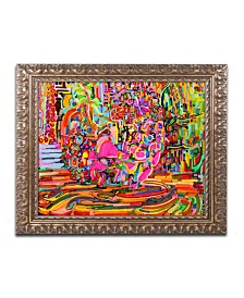 "Josh Byer 'Nude Woman As A Bowl Of Fruit' Ornate Framed Art - 11"" x 14"""