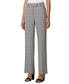 Petite Plaid Career Pants