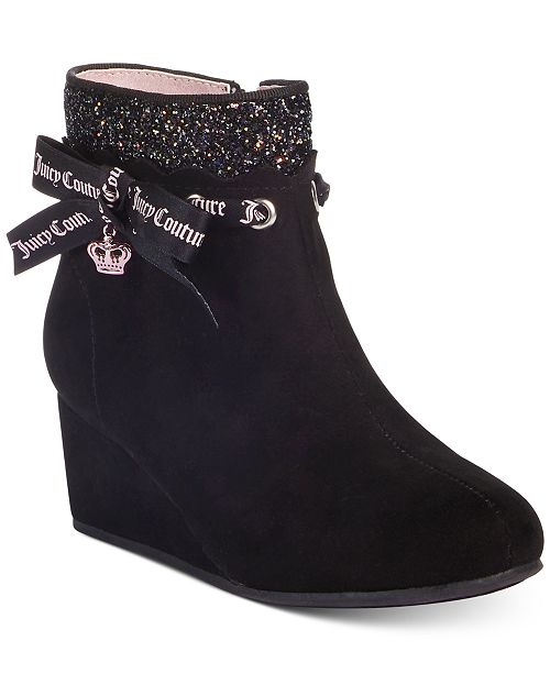 Juicy Couture Little and Big Girls Short Wedge Booties