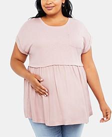 Plus Size Babydoll Blouse