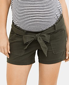 A Pea In The Pod Maternity Satin Shorts