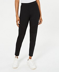 Juniors' High-Rise Moto Leggings, Created for Macy's