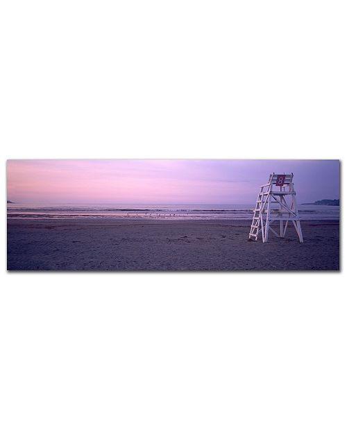"Trademark Global Preston 'Beach Chair' Canvas Art - 47"" x 14"""