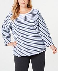Plus Size Zoe Striped Sweatshirt, Created for Macy's