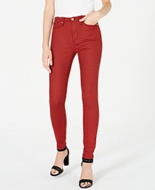 Printed High-Rise Skinny Jeans