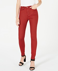 Juicy Couture Printed High-Rise Skinny Jeans