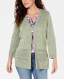 Pointelle Marled Cardigan, Created for Macy's