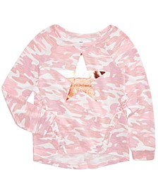 Big Girls Camo-Print Top, Created for Macy's