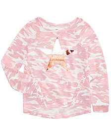 Epic Threads Big Girls Camo-Print Top, Created for Macy's